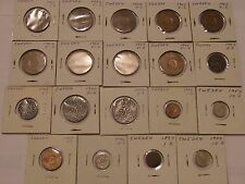 19 SWEDISH LOT SWEDEN COINS