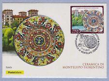 ITALIA Cartolina Filatelica Ceramica di Montelupo Fiorentino Anno 2017