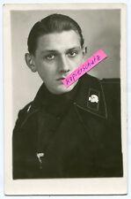 Portrait-Foto : Deutscher Panzer-Soldat im 2.WK