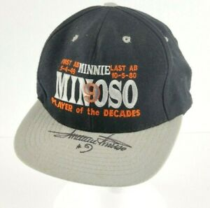 VTG Minnie Minoso Signed Autographed Baseball First & Last At Bat Hat White Sox