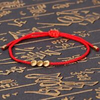 Handmade Tibetan Copper Bead Lucky Rope Bangles For Women Bracelet Men Thread
