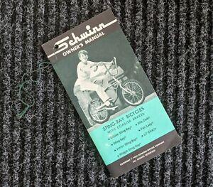 SCHWINN 1967 Bicycle Stingray Owners Manual - Original  67 Bike