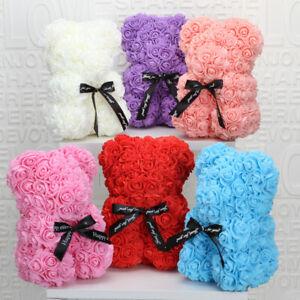 Rose Bear Flower Teddy Birthday Anniversary Gift 25 cm with GIFT BOX