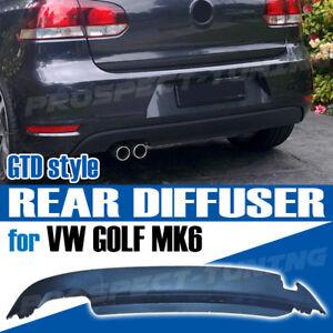 NEW VW GOLF GTD STYLE MK6 09-13 REAR BUMPER DIFFUSER BLACK UK STOCK PREMIUM
