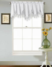 1PC WAVE ROD POCKET SILKY SMALL WINDOW CURTAIN WATERFALL VALANCE SWAG TOPPER