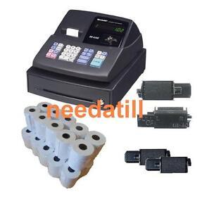 TILL ROLLS & INK - Sharp XE-A102 Black Cash Register XEA-102 XEA102 XE A 102