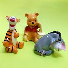 Vintage Disneyland Disney Winnie the Pooh Tigger Eeyore Porcelain Ceramic Lot of