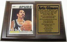 San Antonio Spurs Artis Gilmore Basketball Card Plaque