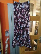 Lovely Long Purple Floral Skirt. Wallis. Size 12.