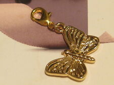 Gold/Pl Butterfly Charm - Lobster Clip On Charm