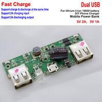 5V 2A Dual USB li-ion Lithium 18650 Battery Charger Module DIY Phone Power Bank