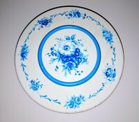 Vintage Round Blue And White Floral 10 Storage Box 8 1/2""