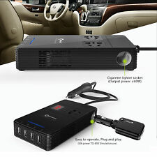 Multi-function T1 12V to 220V Car Inverter with 4 USB Port 5M Ions Air Purifier
