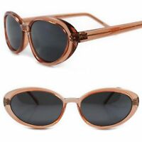 Genuine Vintage Old Fashion Deadstock Classic Womens Orange Cat Eye Sunglasses