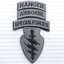 SPECIAL FORCES AIRBORNE RANGER 4 PATCH HOOK SET USA MILITARY US ACU DARK BADGE