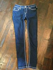 WOW.WOMENS WAIST SZ 5 27S J.CREW STRETCH  MATCHSTICK MED BLUE JEANS POPULAR $69