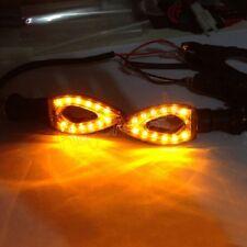 2X Motorcycle Bike LED Amber Turn Signal Blinker light Indicator Universal Bulb