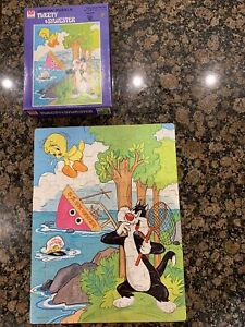 Vintage Tweety S.S. Sylvester Looney Tunes 1979 Whitman Jigsaw Puzzle 100 piece