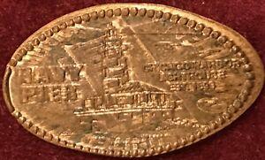 1972-D Copper One Penny Navy Pier CHICAGO HARBOR LIGHT HOUSE EST. 1893 Elongated