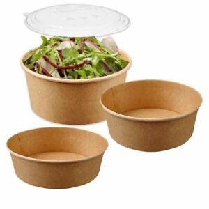 Kraft Compostable Biodegradable Salad / Deli Bowls - Choose a size
