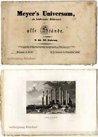 Meyer's Universum: V. Bd., IV. Lieferung. Mit 4 Stahlstichtafeln von 1838