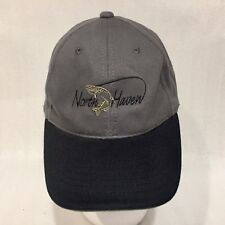 North Haven Utik Lake Resort Hat Gray Baseball Ball Cap Lid Fishing Pike Trout