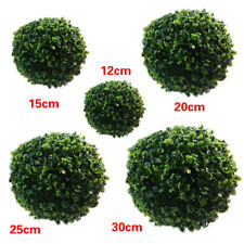 Hot Artificial Plastic Hanging Green Grass Ball Plant Home Party 12/20/25/30cm