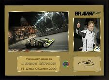Jenson Button signed autographed photo Print BRAWN GP Formula 1 Champion Framed