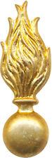 INFANTERIE, flamme arrondie en métal doré matricé, 2 anneaux, Sans (11056)