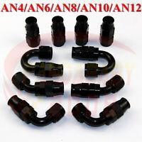 4AN 6AN 8AN 10AN 12AN PTFE hose end teflon fitting adapter kit 0/45/90/180 deg