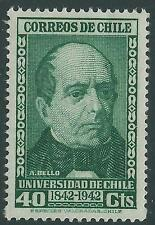 CHILE 1942 Universidad de Chile Sc.229 Andres Bello 40 cts. MNH