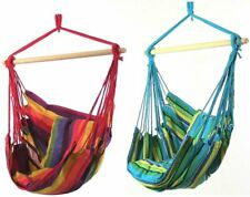 Sunnydaze Hanging Hammock Chair Seat Swing - Ocean Breeze and Sunset - Set of 2