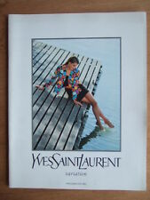 "CATALOGUE MODE ""VARIATION"" YVES SAINT LAURENT PRINTEMPS - ETE 1992 MANNEQUIN"