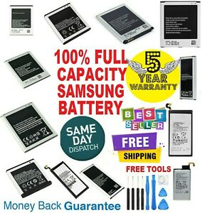 NEW Battery Replacement For Samsung Galaxy Note S2 S3 S4 S5 S6 S7 S8 S9 battery