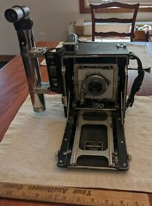 1940s GRAFLEX SPEED GRAPHIC ACCORDION CAMERA, w/ SUPERMATIC (X) LENS