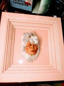 Cheryl Dolby Framed in 3d it's a beautiful native American lady Sculpture face