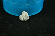 925 STERLING SILVER PAVE DIAMOND HEART PENDANT CHARM 0.85 TCW #A2895