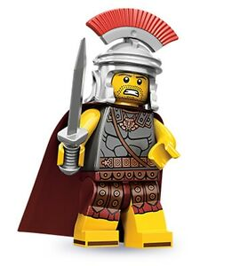 Lego collectible minifig series 10 Roman Commander with a sword and cape
