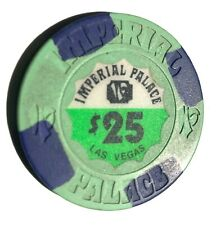 New listing Imperial Palace Casino Chip $25 - Green/Blue - Las Vegas Nevada