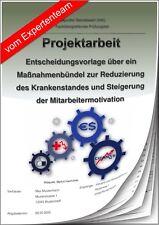 Betriebswirt BW Projektarbeit & Präsentation IHK Krankenstand
