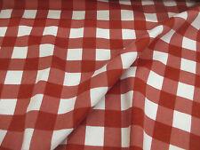 blanco y rojo a Cuadros 100% Algodón Cepillado Franela Tela Precio Por Metro