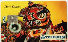 Malaysia Used Phone Card : Lion Dance
