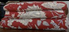 *Pottery Barn MARGARET Floral Paisley  Full/Queen Duvet Cover RED + 2 Euro Shams