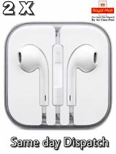 2 x New Earphones Headphones For Apple iPhone 6s 6 5c 5S 5SE iPad iPod Handsfree