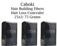 3Pcs Caboki Hair Building Fibers 25 Grams - Black / Dark Brown U.S SELLER