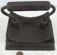 Cast Iron Geneva Hand Fluter Rocker /& Heater Base Antique Circa 1886