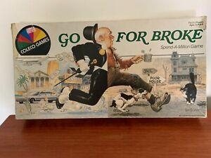 "Vintage  ""GO FOR BROKE"" Board Game. Coleco Games 1985 Rare"