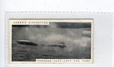 (Jc8505-100)  OGDENS,MODERN WAR WEAPONS,TORPEDO JUST LEFT THE TUBE,1915,#7