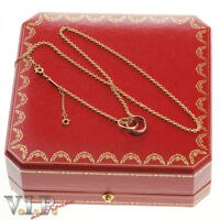 CARTIER TRINITY COLLIER HALSKETTE KETTE & ANHÄNGER 18ct. TRICOLOR GOLD NECKLACE