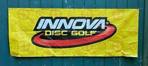 HUGE INNOVA Disc Golf Yellow Vinyl Banner Sign 8' x 3' Advertising Man Cave